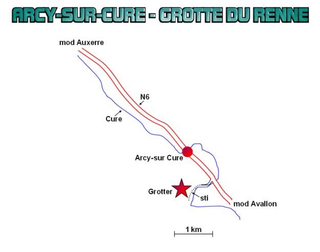 Detaljeret kort over området