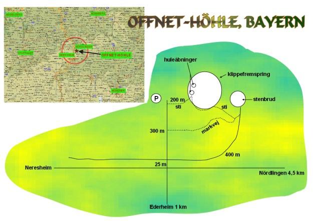 Offnet-höhle, kort