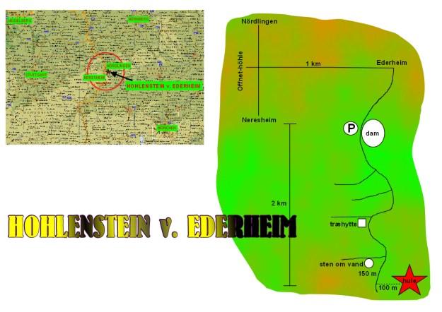 Hohlenstein-Ederheim kort