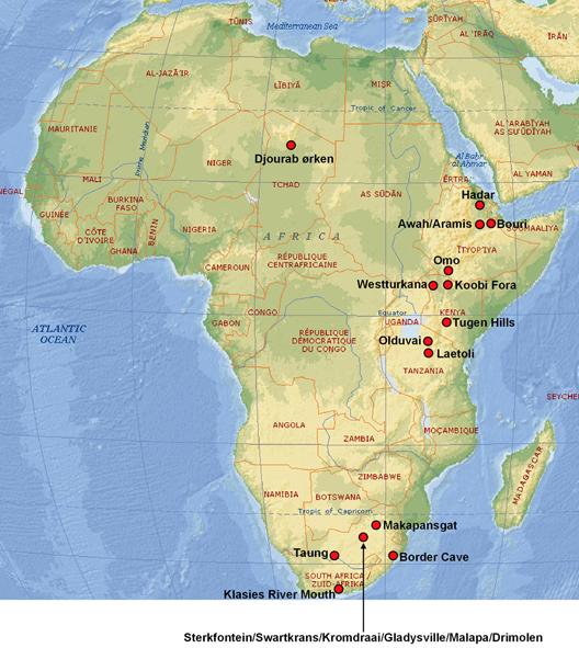 afrikanske lokaliteter