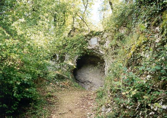 Grottens indgang