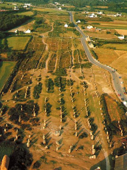 Rækkerne ved Carnac set fra luften