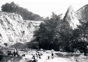 Kalkbrud i Neanderdalen i midten af 1800-tallet