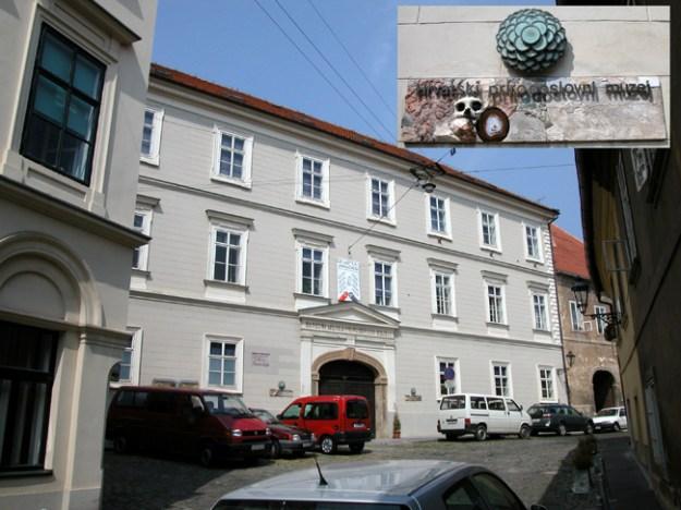 Det antropologiske museum i Zagreb med Krapina-fossilene