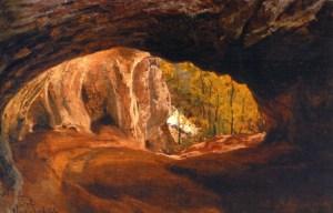 Hule i Neanderdalen malet 1864