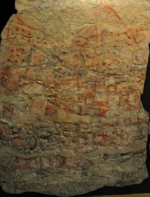 Originale vægmaleri med vulkanen, museet i Ankara