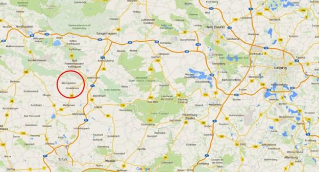 Kort der viser lokalitetens beliggenhed