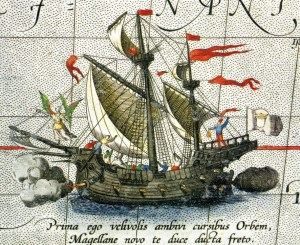 Ferdinand Magellans karavel, Vittoria, hvormed han som den første sejlede rundt om Jorden 1519-1921.