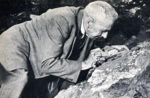 Robert Broom ved Swartkrans 1948
