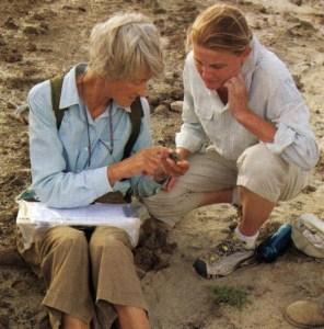 Meave og Louise Leakey ved Ileret, Turkana