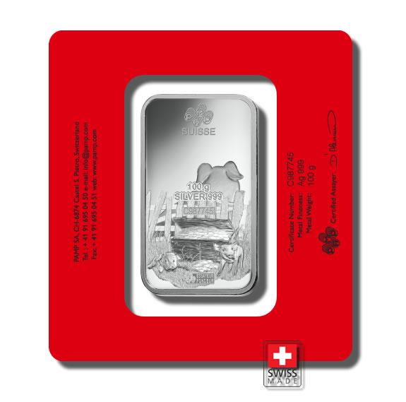 sztabka 100 gram srebro