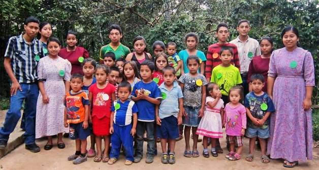 A children's class in La Pastoría.