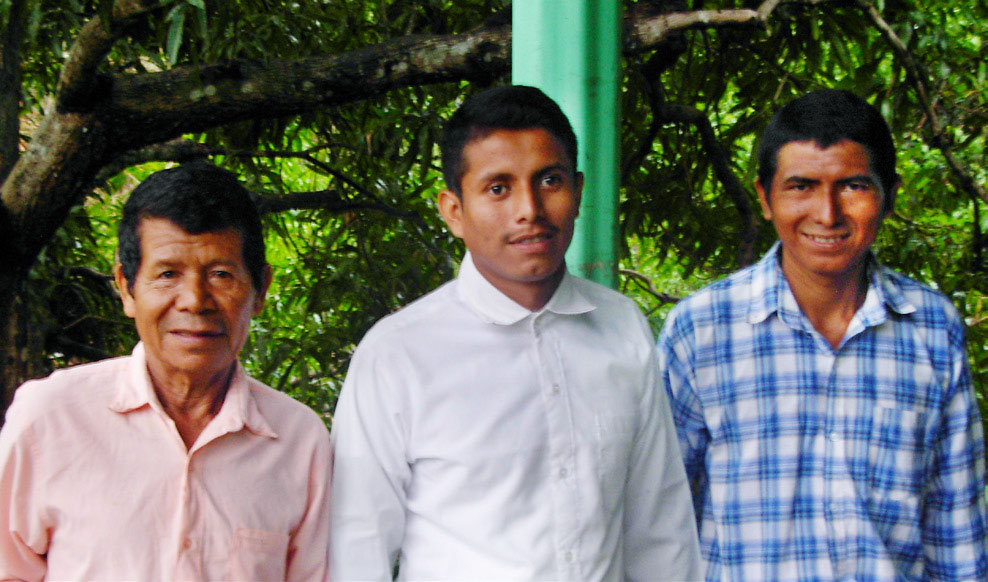 Gonzalo, Ricardo, and Ervin were baptized in Porvenir.