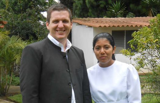 Craig and Aura on their wedding day