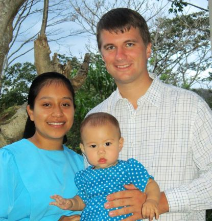 Wendell and Jenny Diem, with their little girl Shaylen, live just down the road from her father's house in Oratorio. Wendell helps pastor the church there as well as helping in several other small churches.
