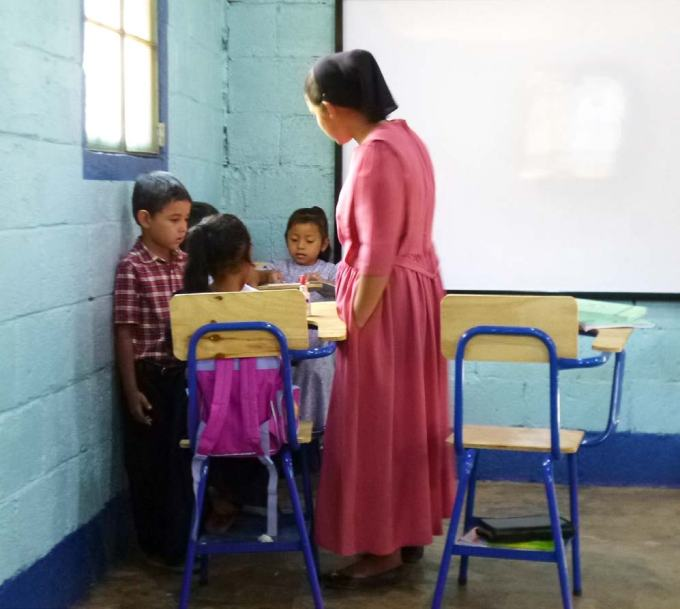 Magdalena and her class