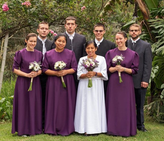 The wedding was held at the Farm in Sumpango