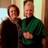 Sarah Pope (l) and Catherine Emery (r) at the Mount Airy reception