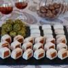 Panellets con dulce de manzana, pistacho y chocolate