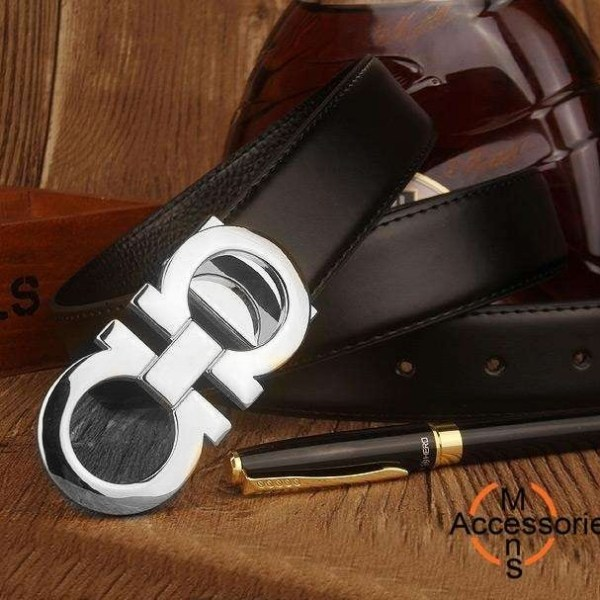 Cinto de couro liso cintos de luxo designer