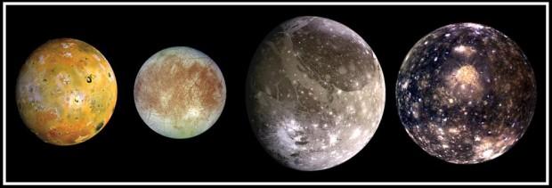 Io, Europa, Ganimedes e Calisto, cada uma com sua personalidade. Escolha a sua favorita. (Crédito: Nasa)
