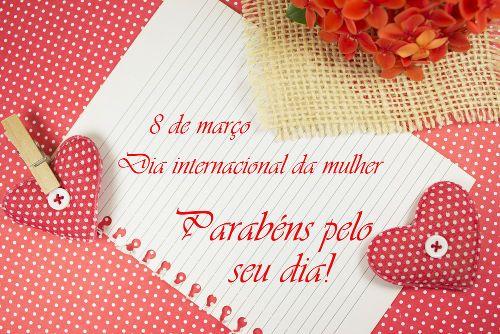 Dia internacional da mulher com carinho