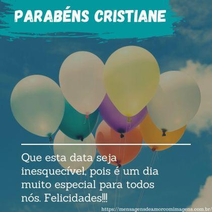 parabens cristiane 4