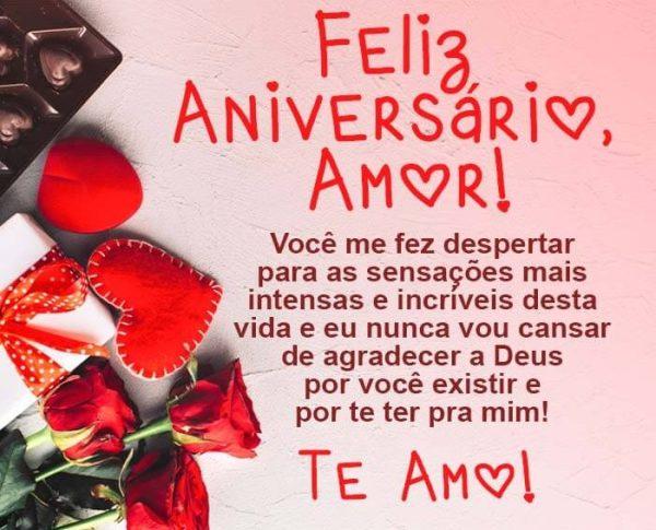 Feliz aniversário amor!