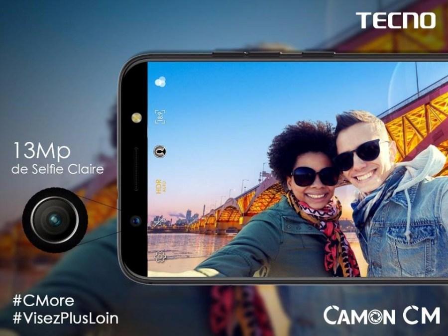 camon cm de tecno mobile selfie