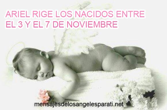 ARIEL RIGE LOS NACIDOS ENTRE EL 3 Y EL 7 DE NOVIEMBRE