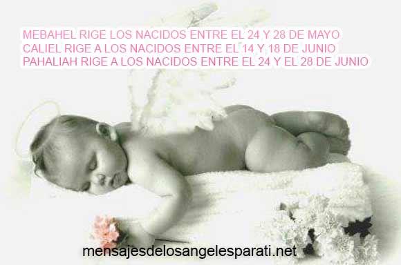 MEBAHEL RIGE LOS NACIDOS ENTRE EL 24 Y 28 DE MAYO