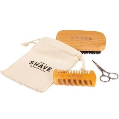mejores productos belleza hombre shave barbers spa kit arreglar barba peine cepillo tijera básico beard grooming kit
