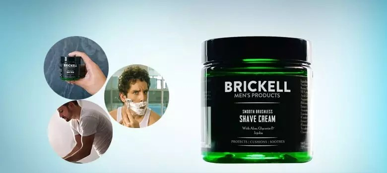 Brickell Men's Smooth Brushless Shave Cream for Men