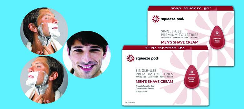 Squeeze Pod Travel Men's Shaving Cream