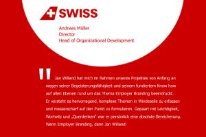Aussage zur persönlichen Zusammenarbeit von Andreas Müller, Head of Organizational Devedlopment