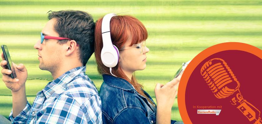 Aktionsbild zur menschmark Aktion On-Air gemeinsam mit KarriereRadio.FM