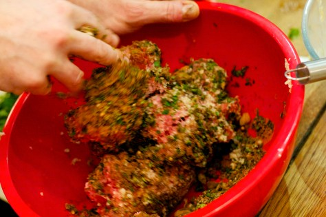 Lamb and beef meatball mix