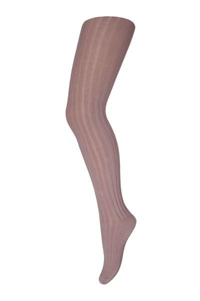 Cotton rib tights - Rose Grey 130
