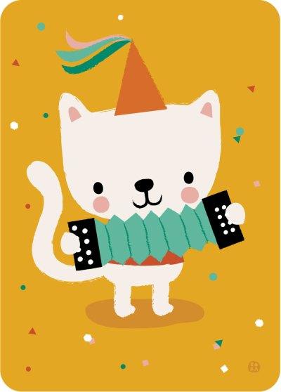 Bora kaart - Accordion Cat