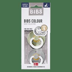 Bibs Maat 1- Sage/Cloud Glow in the Dark 2-pack