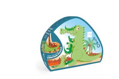 Scratch - Contourpuzzel Krokodil