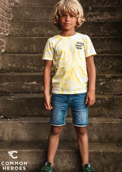 Common Heroes - Jeans Short - Light Wash 92