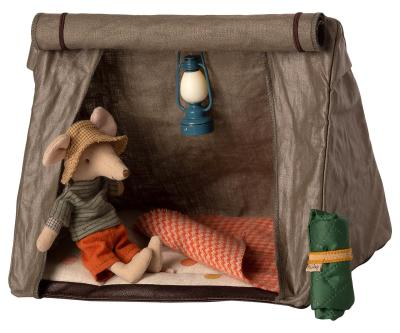 Maileg - Happy camper tent, Mouse