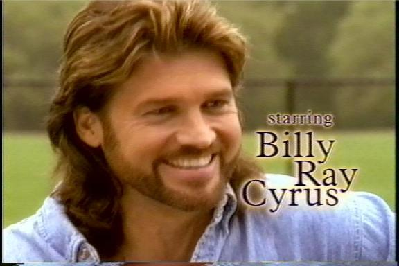 Billy Ray Cyrus with a cool Mullet hair style