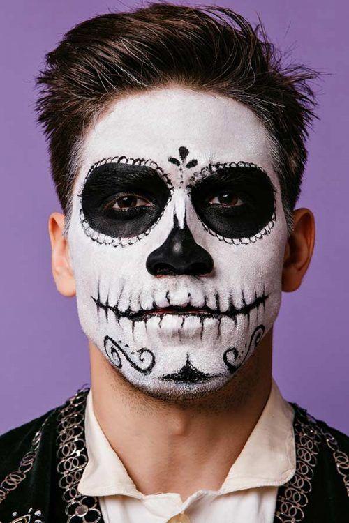 Dia De Los Muertos Skull Makeup Man Saubhaya Makeup