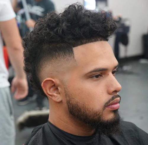 Curly Top Fade Haircut