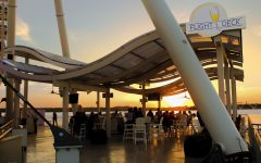 Flight Deck at Sunset