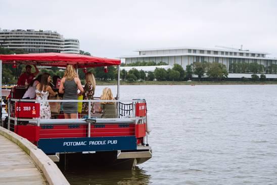 Potomac Paddle Pub BYOB pedal boat