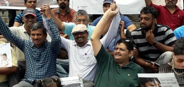 Front row Anil Kumar, Kumar Jahgirdar, Pandurang S Katti in the Back row