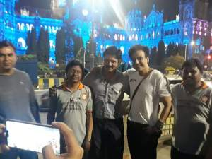 UNESCO World Heritage site CSMT building lit with blue on the occasion of IMD 2019